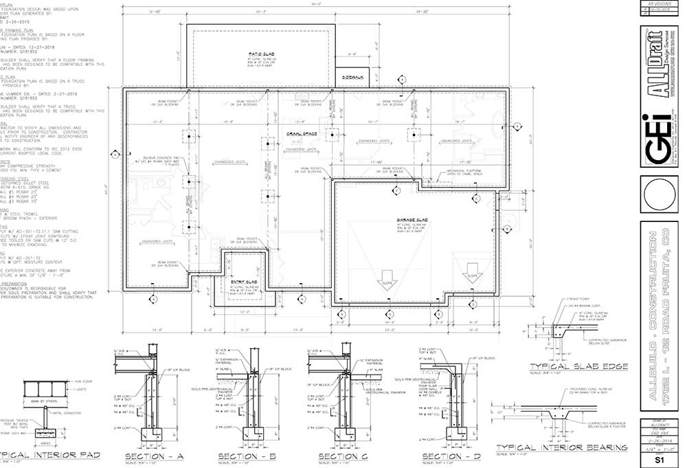 Sample drafting plans