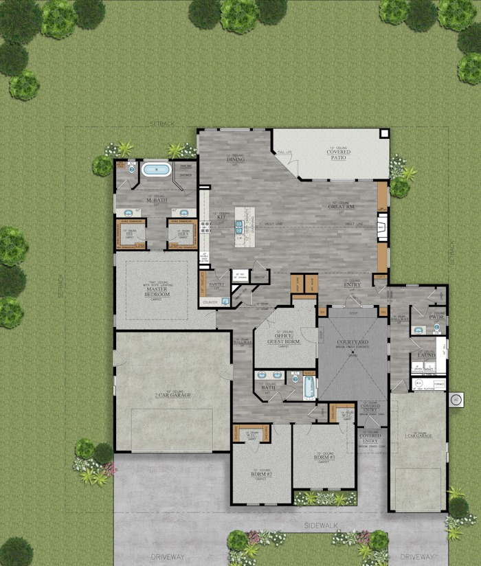 2182 Mescalero floor plan rendering